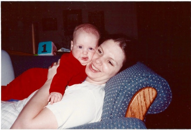 Baby Alan & Deb On Couch